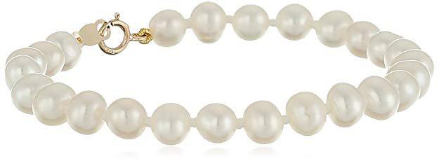14k Gold Freshwater Cultured Pearl Bracelet