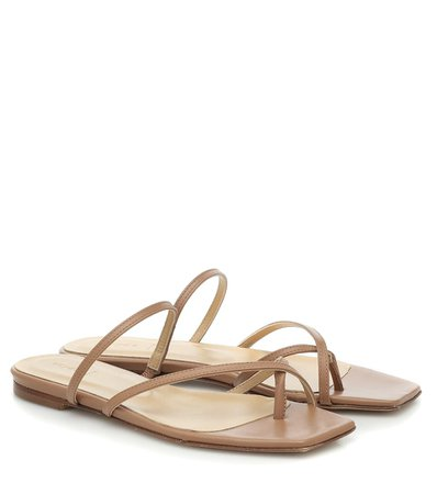 Aeydē - Marina leather sandals   Mytheresa