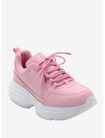 Pink Chunky Sneakers