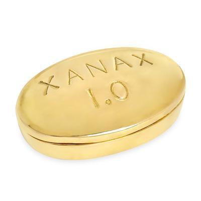 Xanax Brass Pill Box | Jonathan Adler