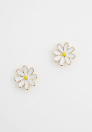 Doting Over Daisies Earrings in White Yellow   ModCloth