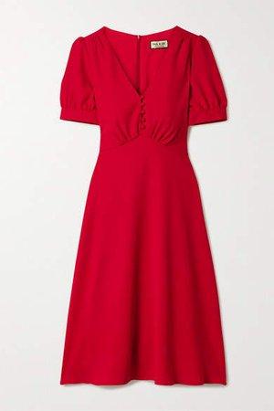 Crepe Midi Dress - Red