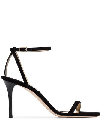 Jimmy Choo black Minny 85 strappy leather sandals - Buy Online - Large Selection of Luxury Labels