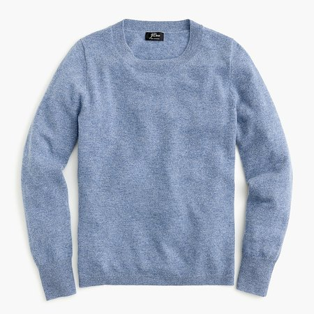 J.Crew: Long-sleeve Everyday Cashmere Crewneck Sweater For Women blue