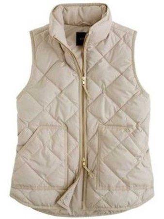 cream quilted vest