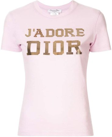 Pre-Owned J'adore embellished T-shirt