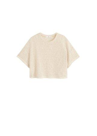 MANGO Openwork knit t-shirt