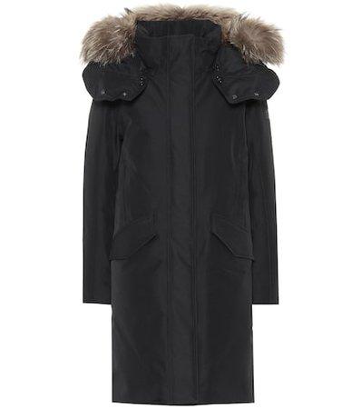 Adirondack fur-trimmed down coat