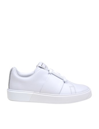 Balmain Sneakers In White Leather
