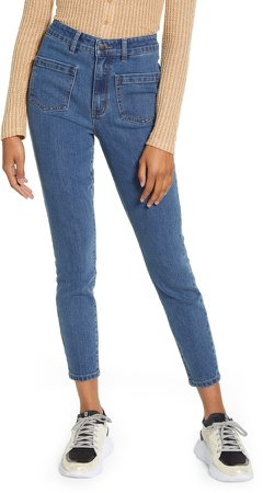 Front Pocket Crop Jeans