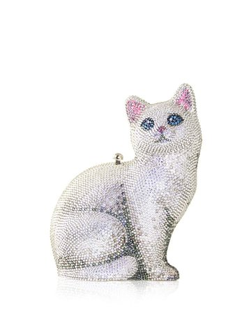 Judith Leiber Couture Cat Marie Crystal Clutch Bag | Neiman Marcus