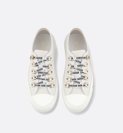 Walk'n'Dior low-top Sneaker in white canvas - Shoes - Women's Fashion | DIOR
