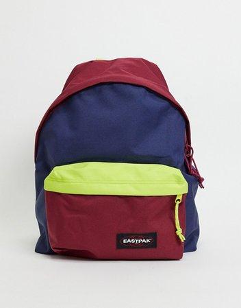 Eastpak Padded Pak'r colorblock backpack in multi   ASOS