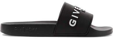 Logo-print Rubber Slides - Black