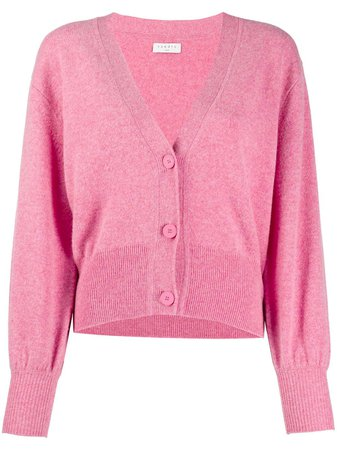 Pink Sandro Paris Happy short cardigan SFPCA00299 - Farfetch