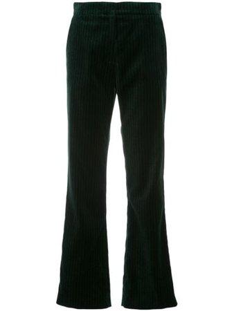 Green Alexa Chung Tailored velvet trousers - Farfetch