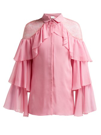 ruffle lace blouse