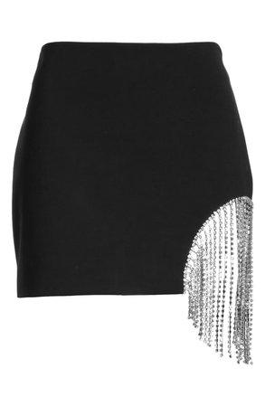 Area Crystal Fringe Miniskirt   Nordstrom