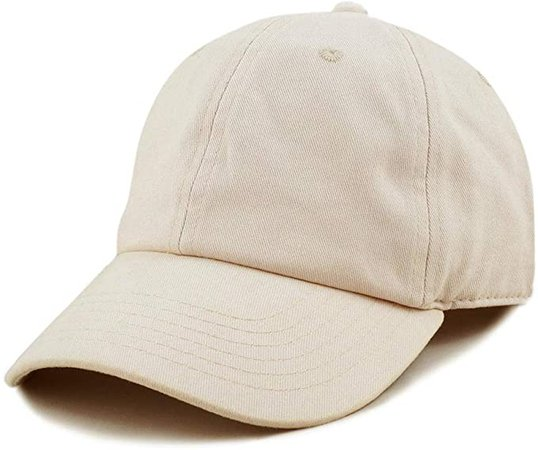 The Hat Depot 300N Washed Cotton Low Profile Baseball Cap (Gold) at Amazon Men's Clothing store