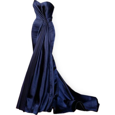 Navy-Blue Red Carpet Gown