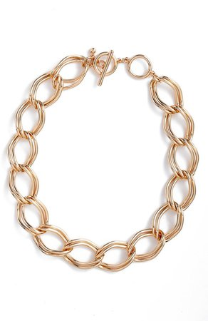 Double Link Chain Collar Necklace