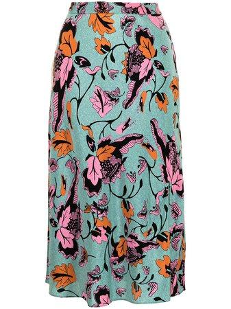 DVF Diane Von Furstenberg Beverley Floral Print Skirt - Farfetch