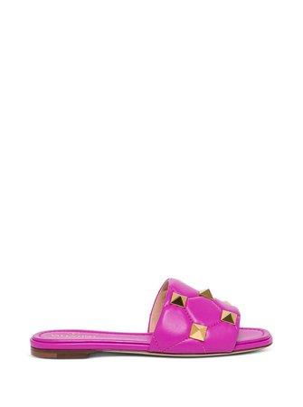 Valentino Garavani Roman Slide Leather Sandals