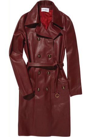 coat red leather