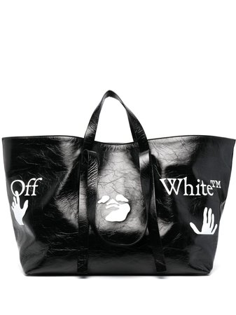 Off-White logo-print Commercial tote bag - FARFETCH