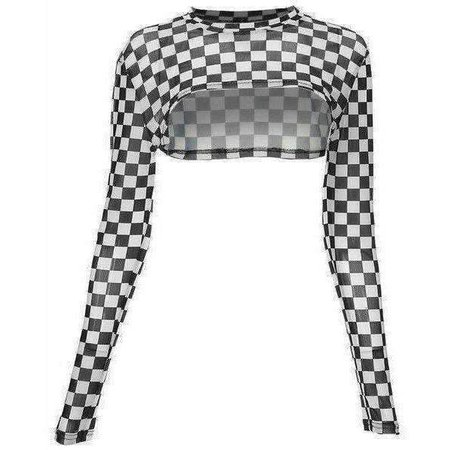 Checkerboard Cropped Top | Own Saviour