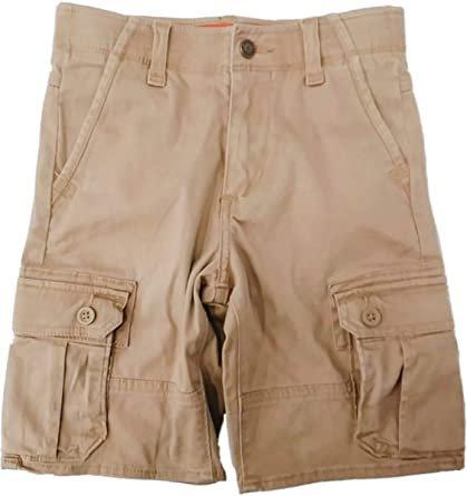 Amazon.com Wranglers Boys Khaki Tan Denim Jeans Shorts Light Brown Flex Waist Cargo Pants