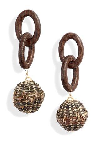 Ettika Wood Statement Earrings | Nordstrom