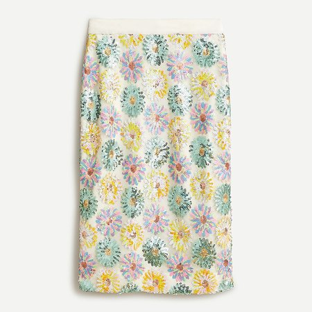 J.Crew: No.2 Pencil® Skirt In Sequin Floral For Women