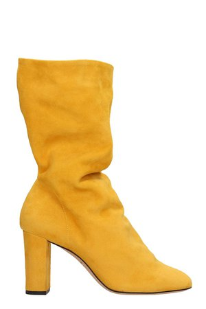 Marc Ellis Yellow Suede Boots