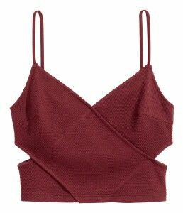 Burgundy Cut Crop Top