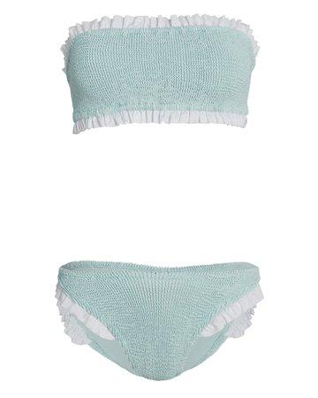 Hunza G Tracey Bandeau Bikini Set | INTERMIX®