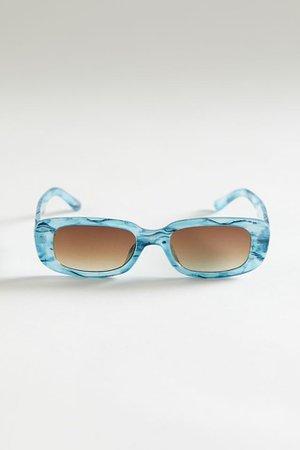 Sabrina Rectangle Sunglasses | Urban Outfitters