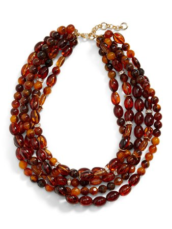 Amber Resin Beaded Necklace | Banana Republic