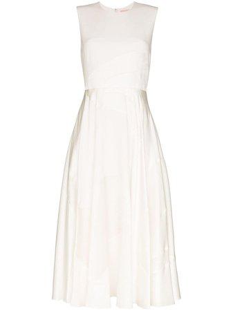 Roksanda Tonal Panelled Midi Dress 2021H12492 White | Farfetch