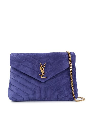Saint Laurent Loulou Suede Shoulder Bag