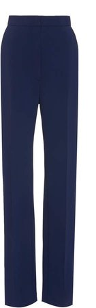 Tailored Straight Leg Crepe Pant