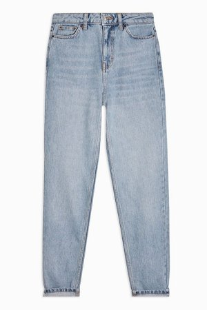 Bleach Wash Mom Jeans | Topshop