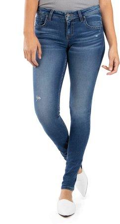 Mia Toothpick Distressed Skinny Jeans