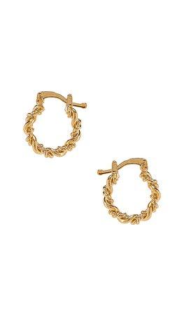 The M Jewelers NY Mini Capri Hoops in Gold | REVOLVE