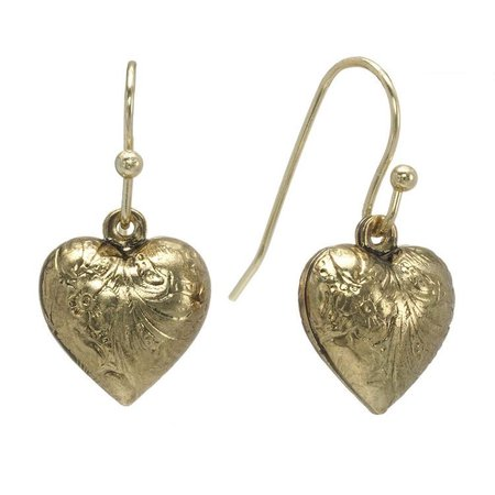 antique heart earrings