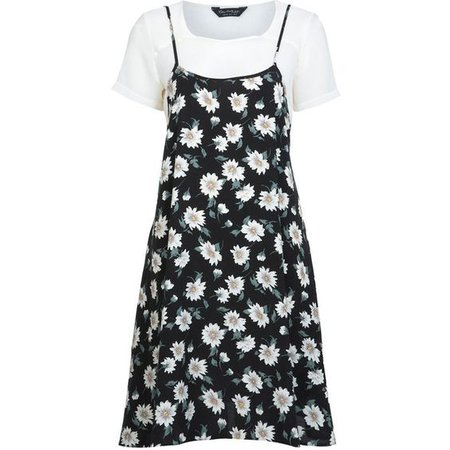 Miss Selfridge Floral Slip Tshirt Dress
