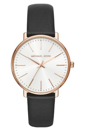 Michael Kors Pyper Leather Strap Watch, 38mm | Nordstrom