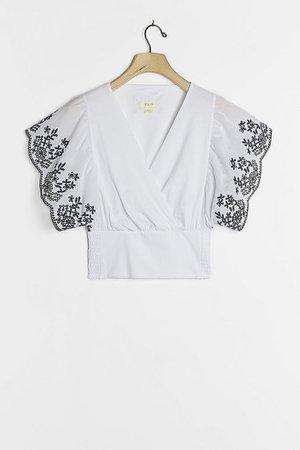 Tavi Embroidered Top   Anthropologie