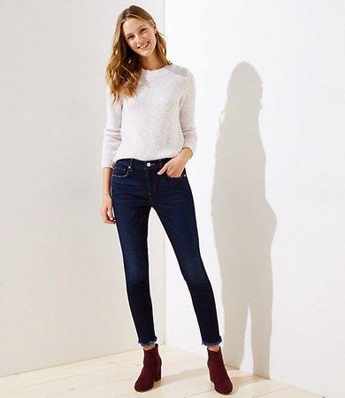 Petite Slim Pocket Skinny Jeans in Dark Indigo Wash