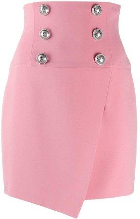 Button-Embellished Skirt